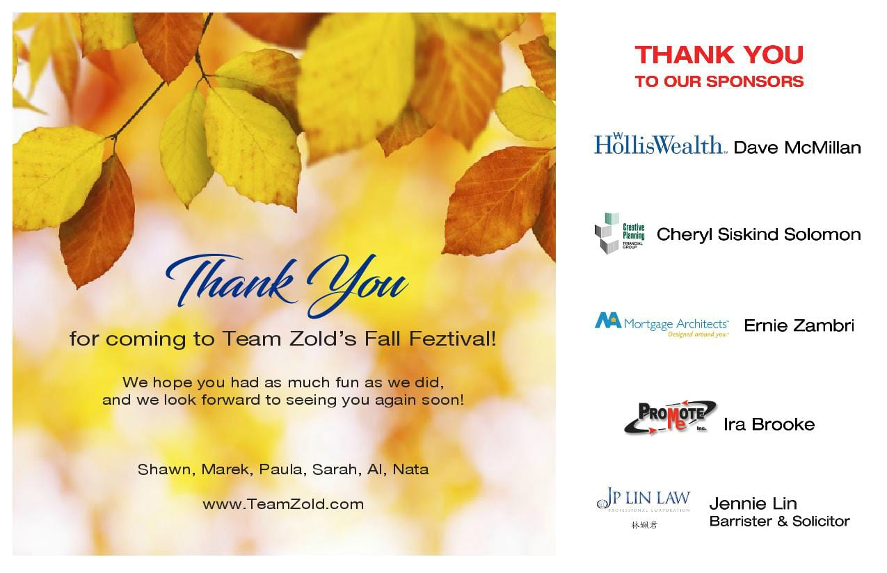 Thank you - Fall Feztival