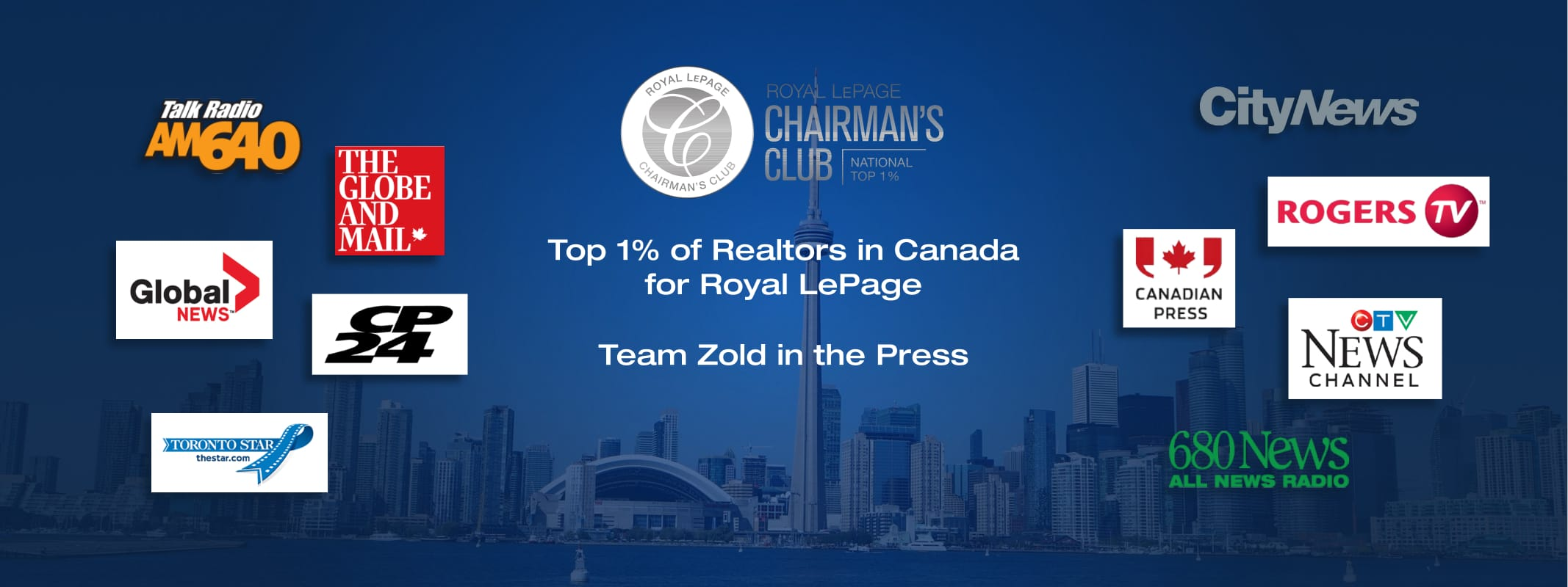 Top 1% of Realtors in Canada for Royal LePage, Team Zold